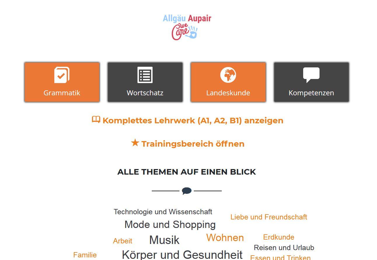 Deutschkurs online für Aupairs in Zeiten von Corona
